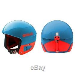 Briko Vulcano Junior Fis Ajustable Casque De Ski Bleu Orange, S / M (53-56cm)