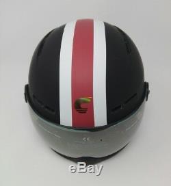 Carrera Helm Karma, Schwarz Matt Stripe, Größe 58-61
