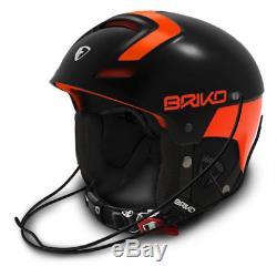 Casque Briko Slalom Ski Racing Noir / Orange, Taille Medium 56cm