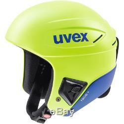 Casque De Course À Neige Uvex Race + Plus Ski Lime Cobalt 58 59 CM Fis Approuvé
