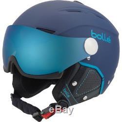 Casque De Ski Bolle Skihelm Visière Arrière Premium II Navy-blau # 1604