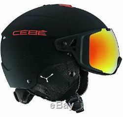 Casque De Ski Cébé Element Visor Mat Noir Et Rouge 56 59 CM