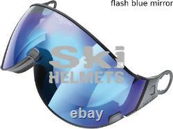 Casque De Ski Cp Visor Camurai Cr Blue Black St, Clear Blue Mirror