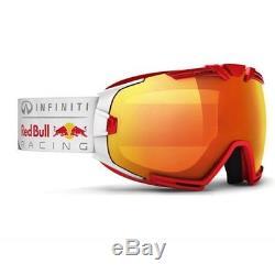 Casque De Ski Infiniti Red Bull Racing Skibrille Rascasse 006 Rouge Métallisé # 1297 Ski
