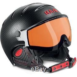 Casque De Ski Kask Casque De Ski Elite Pro II Carbon-noir-rouge Photochromatique # 9752 Ski Hel