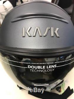 Casque De Ski Kask Class Shadow Anthracite Avec Miroir Argenté 58