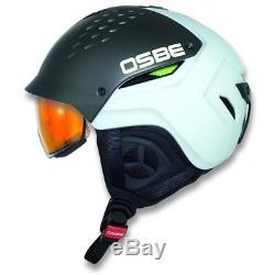 Casque De Ski Osbe Hybrid Titan-weiss Skihelm Avec Visier Selbst-tönend # 1487