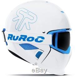 Casque De Ski Ruroc Skihelm Rg-1 II Ice Weiß Blau # 3234 Casque De Ski