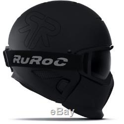 Casque De Ski Ruroc Skihelm Rg-1 II Noyau Schwarz Matt # 3135 Casque De Ski