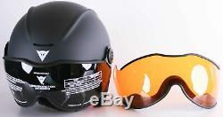 Casque De Ski Snowboard Casque De Dainese Hommes V-vision 2 Gris / Noir Xs 54 Cm-56 CM
