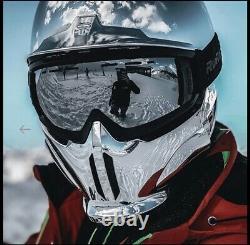 Casque De Snowboard Ruroc Rg1-dx Chrome 20/21 Nouveau / Jamais Utilisé Avec Lunettes Noires