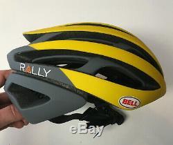 Casque De Vélo De Route Taille Mini S Bell Jaune Z20 Rally Gris