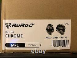 Casque Rg1-dx Chrome 19/20, Taille M/l Casque De Sports D'hiver Nouveau Rrp £279.99