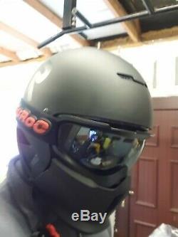 Casque Ruroc Matt Black Avec Lunettes En Chrome Et Verres Orange. Jamais Utilisé