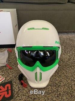 Casque Ruroc Rg1 Blanc Et Vert