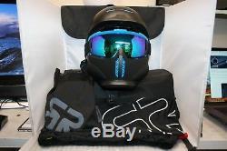 Casque Ruroc Rg1-dx Black Ice Avec Lunettes Et Sacs! Taille M / L