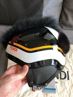 Fendi Casque De Ski Hommes Karl Lagerfeld Prorace Taille L-xl 59-61cm 550g