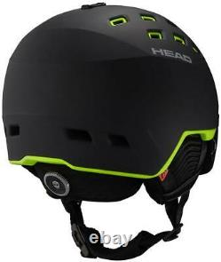 Head Radar Visor Ski + Casque Snowboard Noir/lime