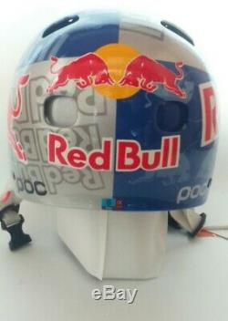 Heaume Red Bull Marke Poc Gr. Casque S Skateboard Snowboard Ski Bmx Downhill