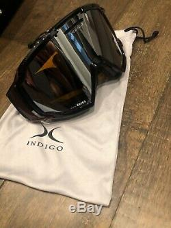 Indigo Ski Casque Carbon Rouge Royal