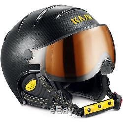 Kask Elite Pro Casque De Ski Photochromique Carbone / Noir / Jaune 56 Cm, S, Neuf, Nib