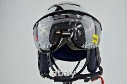 Kask Helmet Black White Ski Snowboard Taille S (55-56 Cm) Italie Boîte Inutilisée Endommagée