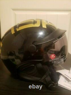 Kask Helmet Style Snowboard Ski Stealth Shine / Or / Noir Nouveau! Sz57-58 Italie