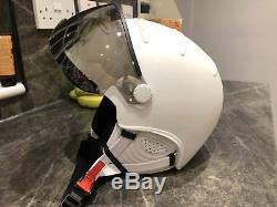 Kask Visor Ombre Ski Casque Blanc Taille L / 59cm