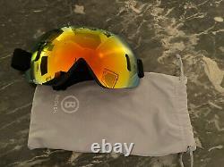 Lunettes De Ski Bogner Helmet Noir Avec Bande Rouge Et Maille Intérieure