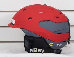 Nouveau 2018 Smith Quantum Mips Casque De Snowboard Adulte Medium Matte Fire Charcoal