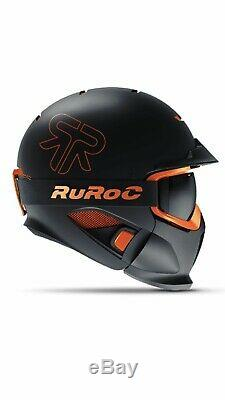 Nouveau! 2019 Ruroc Rg1-dx Noir Nova Casque M / L