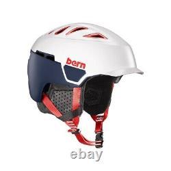 Nouveau Bern Heist Brim Unisex Adult Ski / Snowboard Helmet Small Satin Patriot 2019