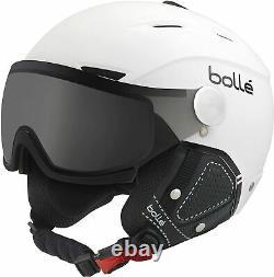Nouveau Bolle Visor Backline Premium Casque De Snowboard Neige Moyenne 56-58cm Blanc