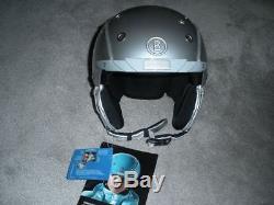 Nouveau Casque De Ski Bogner, Pure Platinum, Taille M, Détail 699 $