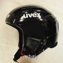 Nouvelle Course Uvex + Plus Ski & Snowboard Racing Helmet Black 51-52 Fis Approuvé
