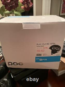 Poc Auric Coupe Country Spin Ski Helmet In Black Xl-xxl (59-62cm) Nouveau In Box