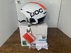 Poc Obex Bc Spin Color White/orange Avip Size M L (55 58 Cm) T.n.-o.