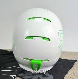 Rouroc Weiß Grün M/l Ski Snowboard Helm Pleine Face Casque Alpin Sport Mode Style