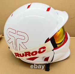Rouroc Weiß Pourriture M/l Ski Snowboard Helm Fullface Casque Alpin Sport Mode Style