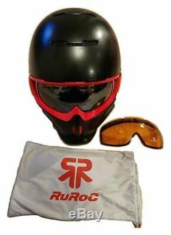 Ruroc Noir / Rouge Rg1 Ski / Snowboard Casque M / L