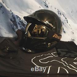 Ruroc Rdx-rg1-dx Casque Ski / Snowboard Titan (m / L) Noir / Or Avec Shockwave