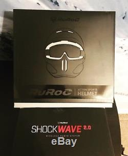 Ruroc Rdx-rg1-dx Casque Titan Ski / Snowboard (m / L) Noir / Or Avec Shockwave