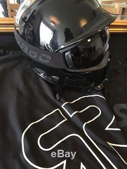 Ruroc Rg-1 / Rg-1dx Snowsports Casque Et Lunettes Noircies Taille M-l 57-60cm