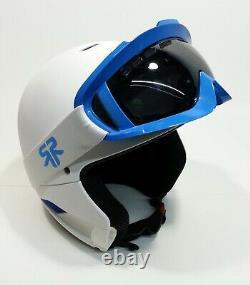 Ruroc Rg-1 Rg1 Full Face Snowboard Ski Helmet Blanc Ice Blue Size Medium Large