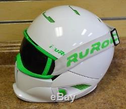 Ruroc Rg-1 Viper Blanc / Vert M / L Ski Snowboard Casque Avec Lunettes + Box