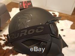 Ruroc Rg-dx1 Casque De Ski / Snowboard Noir Taille De Noyau M / L Et Shockwave 2.0 2017/18