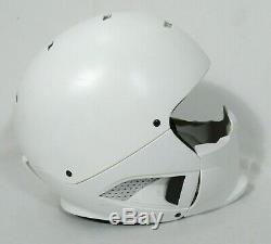 Ruroc Rg1 Core Mat Blanc M / L Casque Ski / Snowboard Avec Masque Facial
