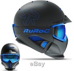 Ruroc Rg1-dx Casque De Ski / Planche À Neige Black Ice M / L (57-60cm)