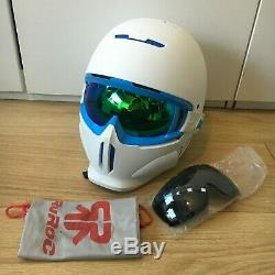 Ruroc Rg1-dx Casque De Ski / Snowboard Blanc / Bleu M / L