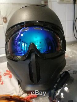 Ruroc Rg1-dx Casque Ski / Snowboard Farbe Black Größe M / L (57 À 60 Cm)